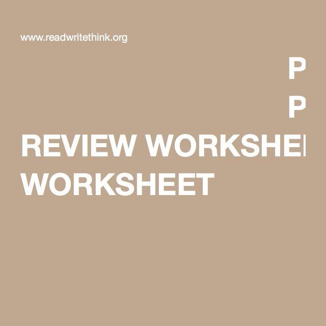 Peer Review Worksheet Peer Review Pinterest Peer Review And