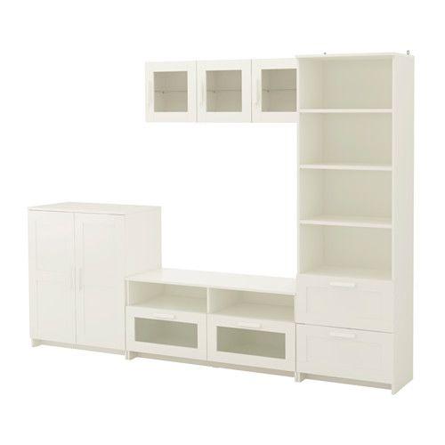 Brimnes agencement meuble t l blanc meuble tele ikea meuble t l et meuble t l blanc for Meuble brimnes ikea