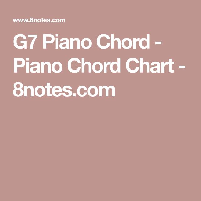 G7 Piano Chord Piano Chord Chart 8notes Noten Pinterest