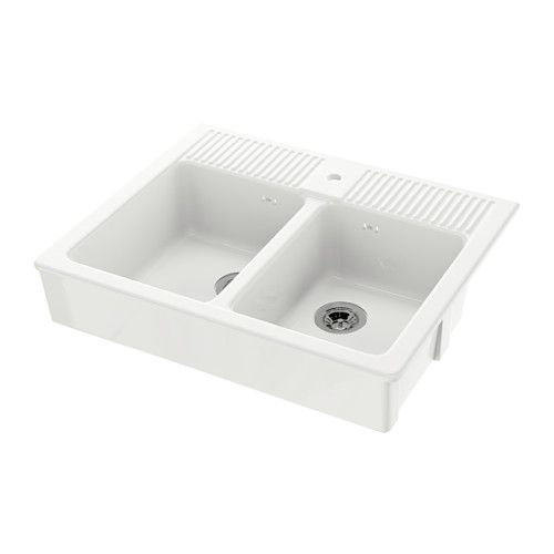 IKEA - DOMSJÖ, Spüle mit 2 Becken, Inklusive 25 Jahre Garantie ... | {Spülbecken küche ikea 27}