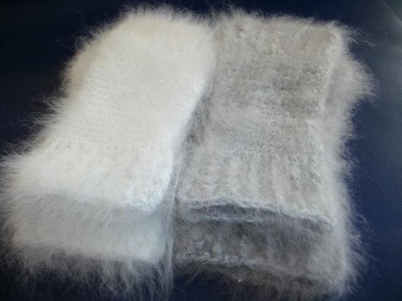 Angora Fingerless Gloves by HoppittyAngora on Etsy