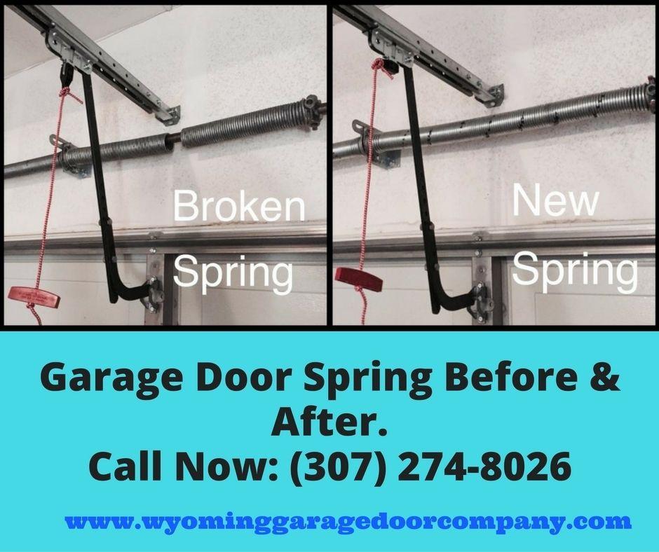 Elegant Garage Door Spring Before And After.
