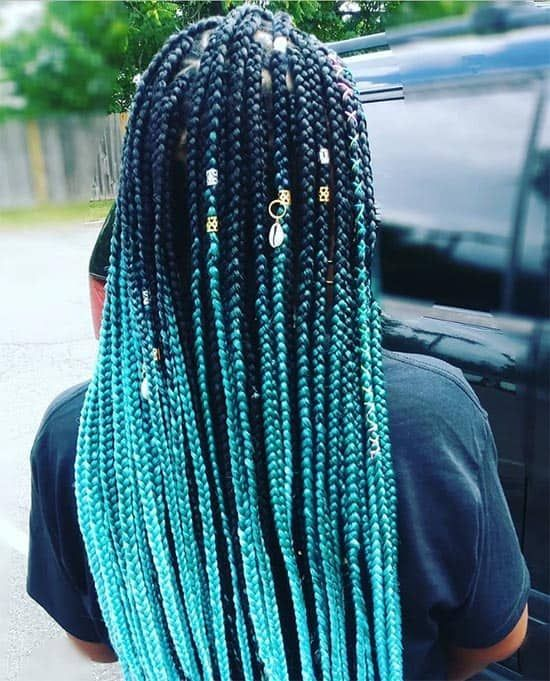 Trendy Box Braids For Black Women (47 Styles to Try in 2019) - #black #braids #styles #trendy #women - #new #braidedhairstylesforblackwomen