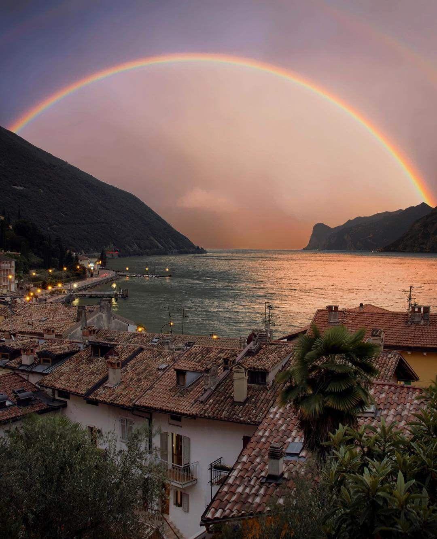 Rainbow after the storm 🌈 Torbole sul Garda, Italy ...