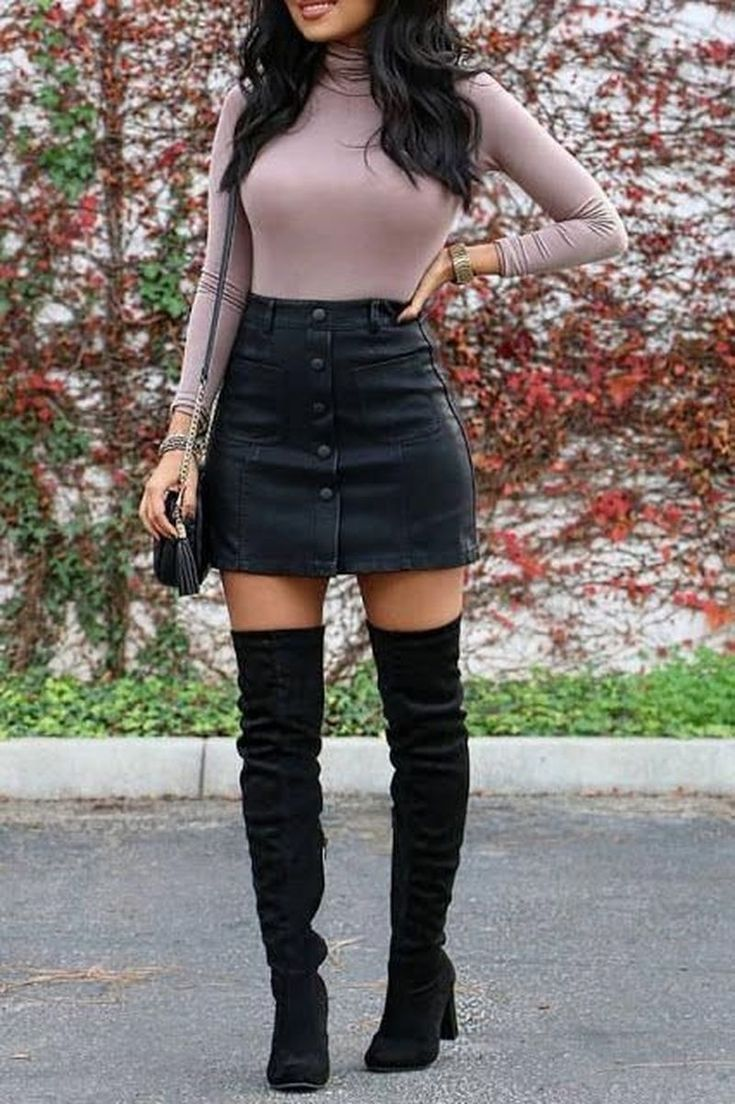 29 Cute Mini Skirt for Teen Fashion in Fall Rock
