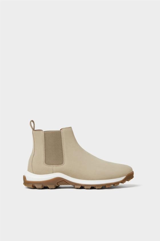 خرید بوت رنگ بژ مردانه زارا Boots Leather Ankle Boots Ankle Boots