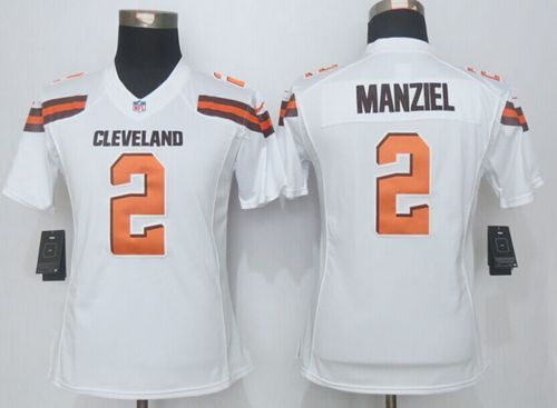 6d2bb5c5974 Nike Browns  2 Johnny Manziel White Women s Stitched NFL Limited Jersey  China Sports Jerseys Suppliers