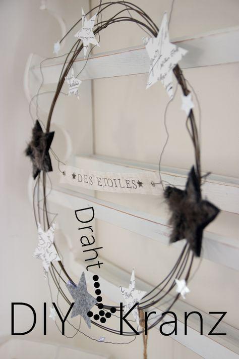 pin von birgit wesemeyer auf weihnachtsdeko draht kranz. Black Bedroom Furniture Sets. Home Design Ideas