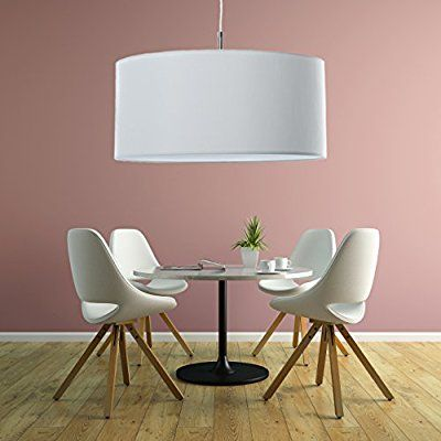 Klassische Hängelampe | Hochwertige Hängeleuchte | Lampe | Weiß | XXL |  Pendelleuchte | Wohnzimmer |