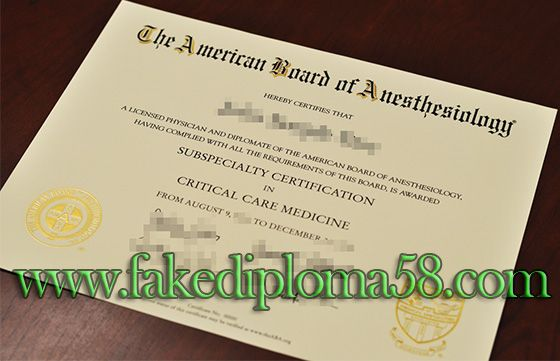American Board of Anesthesiology certificate. buy fake degree, buy ...