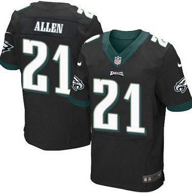 Top Men's Philadelphia Eagles #21 Eric Allen Black Retired Player NFL  hot sale