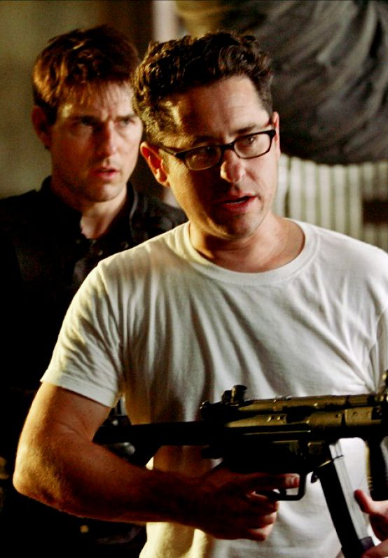 Tom Cruise & JJ Abrams on the set of Mission Impossible 3