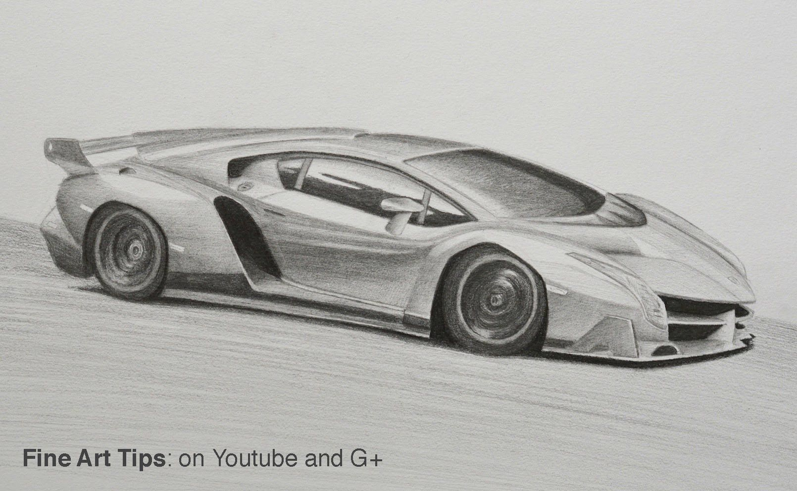 How to Draw a Lambhini Veneno Cars in 2019