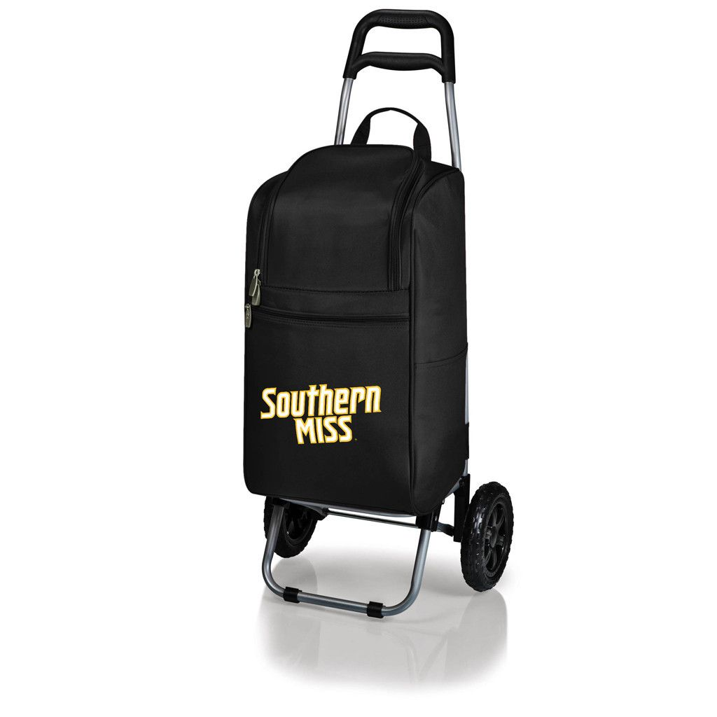 The Southern Miss Golden Eagles Cart Cooler provides you with a convenient, almost effortless way to trek your goodies around in style.