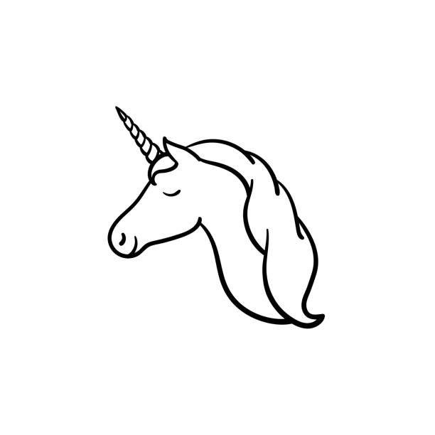 Head Clipart Unicorn Head Clipart Black And White Royalty Free Black And White Doodle Unicorn Wallpaper Cute Unicorn Head