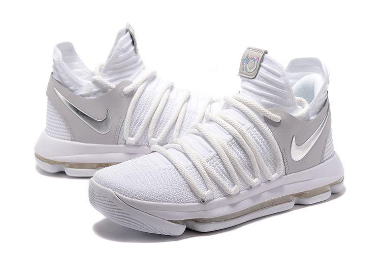 c83014f9c34 New Arrival Nike KD 10 Still KD White Silver