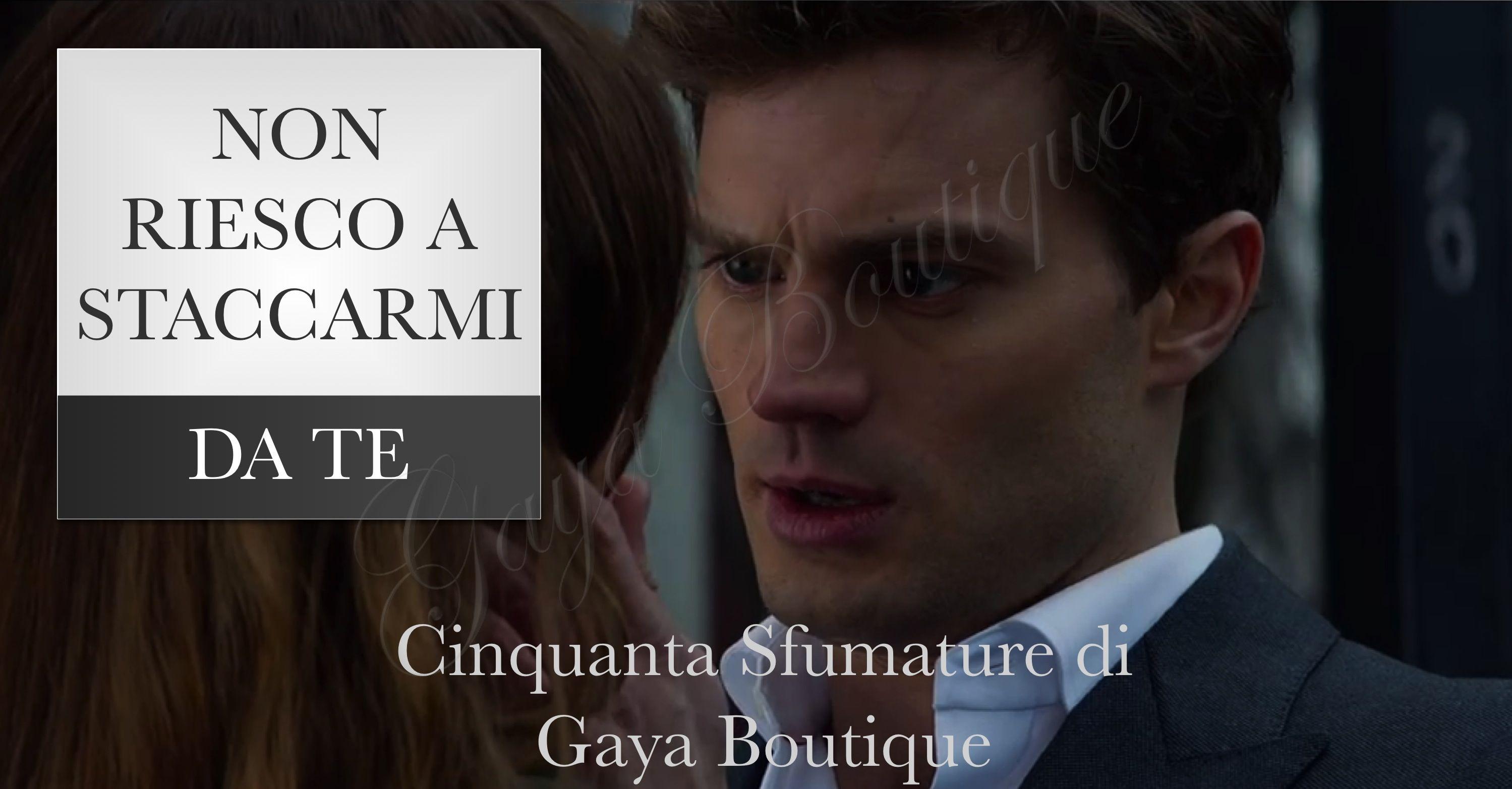 """""""Non riesco a staccarmi da te"""" Cinquante Sfumature di Grigio - Fifty Shades of Grey - Kit Chic da Gaya Boutique www.intimoecostumi.com"""