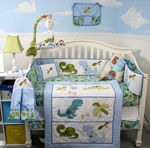 Soho Dinosaur Baby Crib Nursery Bedding Set 14 Pcs Soho D Https Www Amazon Com Dp B00ms28gqi Dinosaur Crib Bedding Dinosaur Baby Room Nursery Bedding Sets