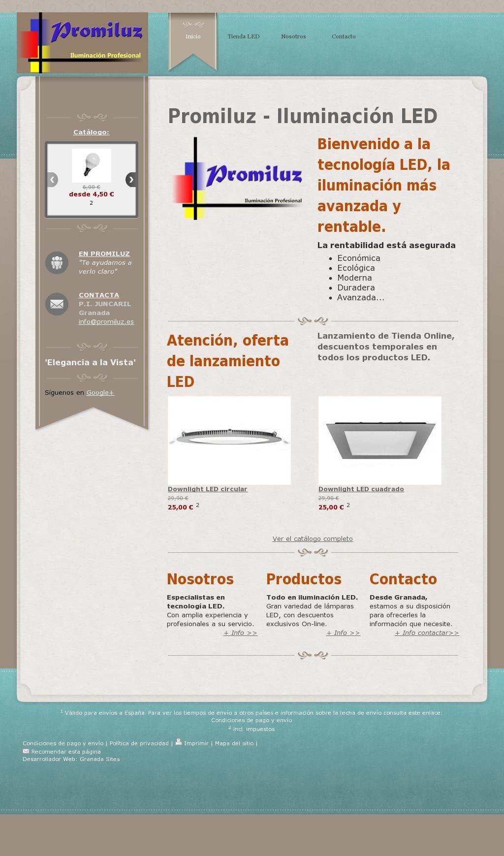 Nueva Web Funcionando Tienda Online De Iluminacion Led Ubicada En