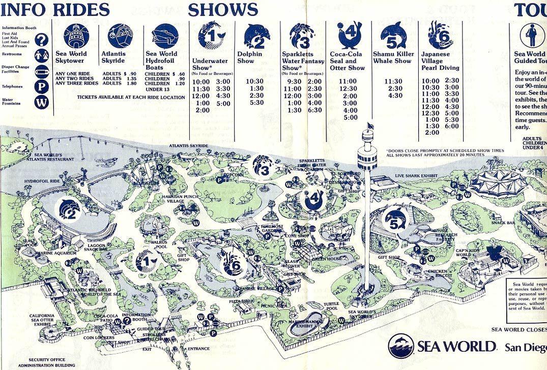 Sea World Sea World San Diego Theme Park Map