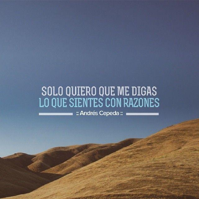 Este mensaje fue compartido vía Andrés Cepeda
