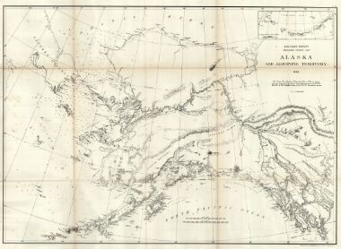 Very Early Huge Map Of Alaska As Us Territory Alaska And - Us-map-1869