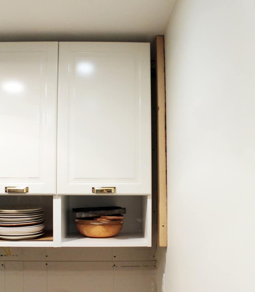 How To Trim Out IKEA Cabinets - Ikea cabinets, Ikea kitchen remodel, Kitchen decor modern, Ikea kitchen cabinets, New kitchen cabinets, Kitchen installation - Last time we showed you the laundry room, it looked something like this We had just installed our new Ikea cabinets and hardware, as well as lighting, too  (I could not find a pulled back photo of the