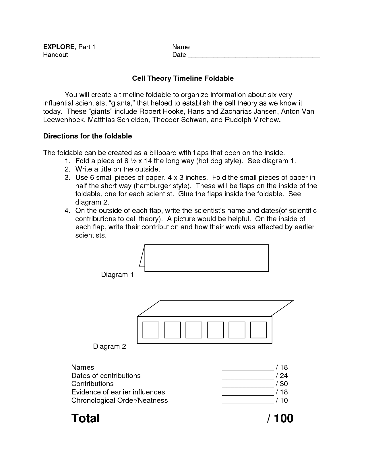 foldables for science cell theory timeline foldable cells pinterest science timeline. Black Bedroom Furniture Sets. Home Design Ideas