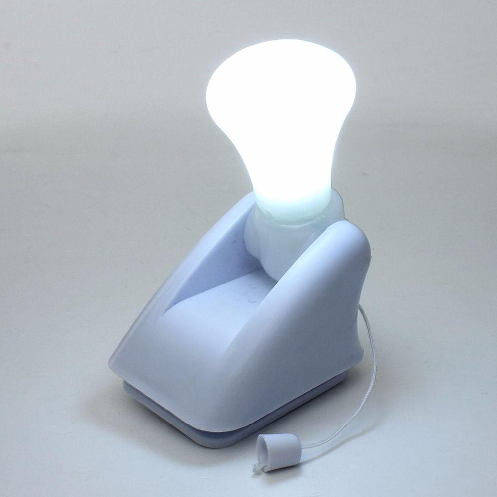 1pcs Wire LED Bulb Portable Cabinet Lamp Night Light Battery Self ...