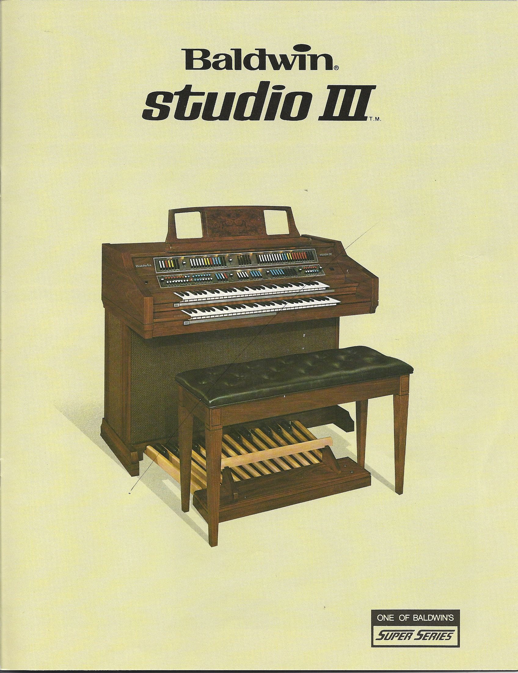 Baldwin Studio III Model 232 Welcome to a Baldwin with full 61 note manuals  and a