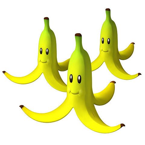 The Triple Banana Power Up From Mario Kart Wii Mario Kart