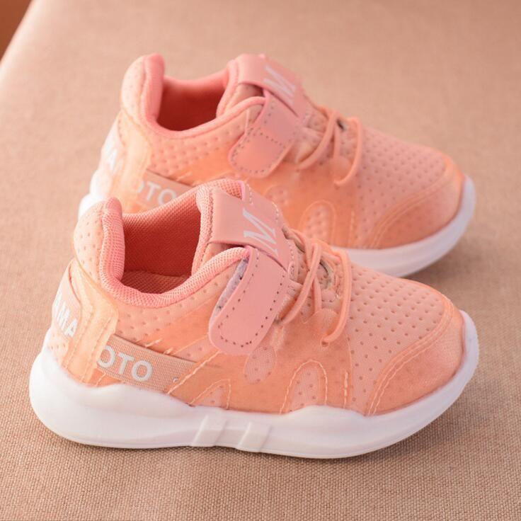Enfants Sneakers Printemps Automne Mode Doux Bambin Filles Garçons  Mocassins Net tissu Chaussures de Course Occasionnels
