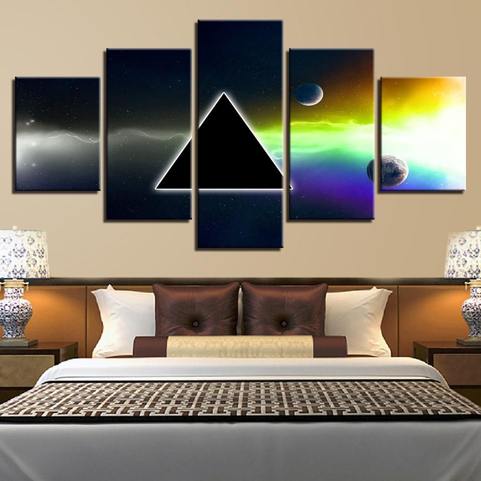 Pink Floyd Rock Music Panel Wall Art On Canvas Print Painting Framed Unframed Ash Decor