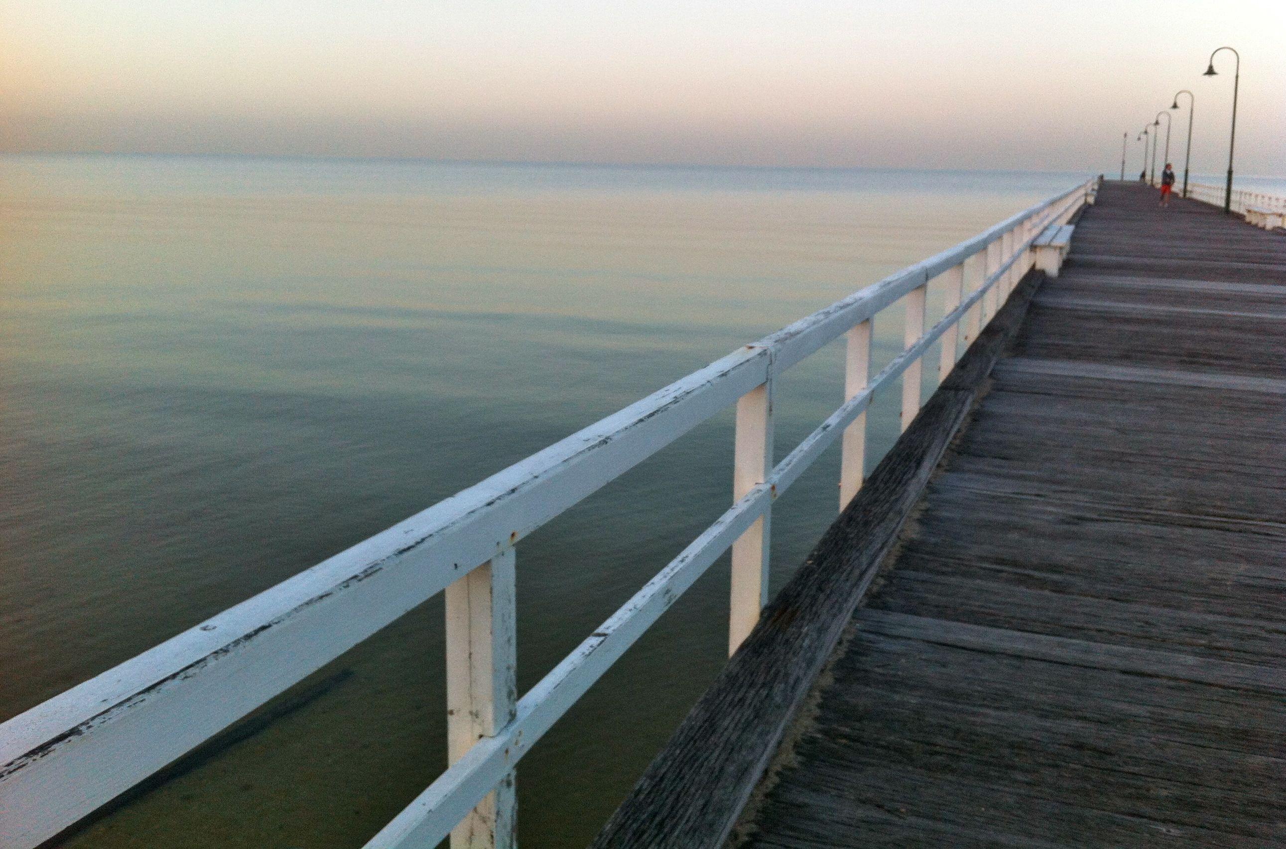 Pier at St Kilda beach, Melbourne