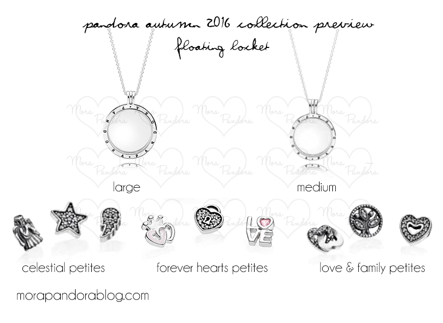 pandora charms for floating locket