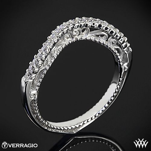 Verragio Beaded Arch Diamond Wedding Ring 1869 Wedding Rings For Women Diamond Wedding Rings Plain Gold Wedding Bands