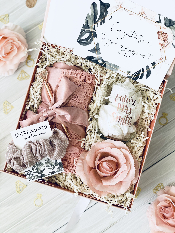 Bridal shower gift engagement gift box best friend