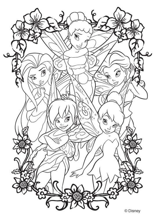 Kleurplaat Disney Fairies coloring pages for adults Pinterest - new disney coloring pages free to print