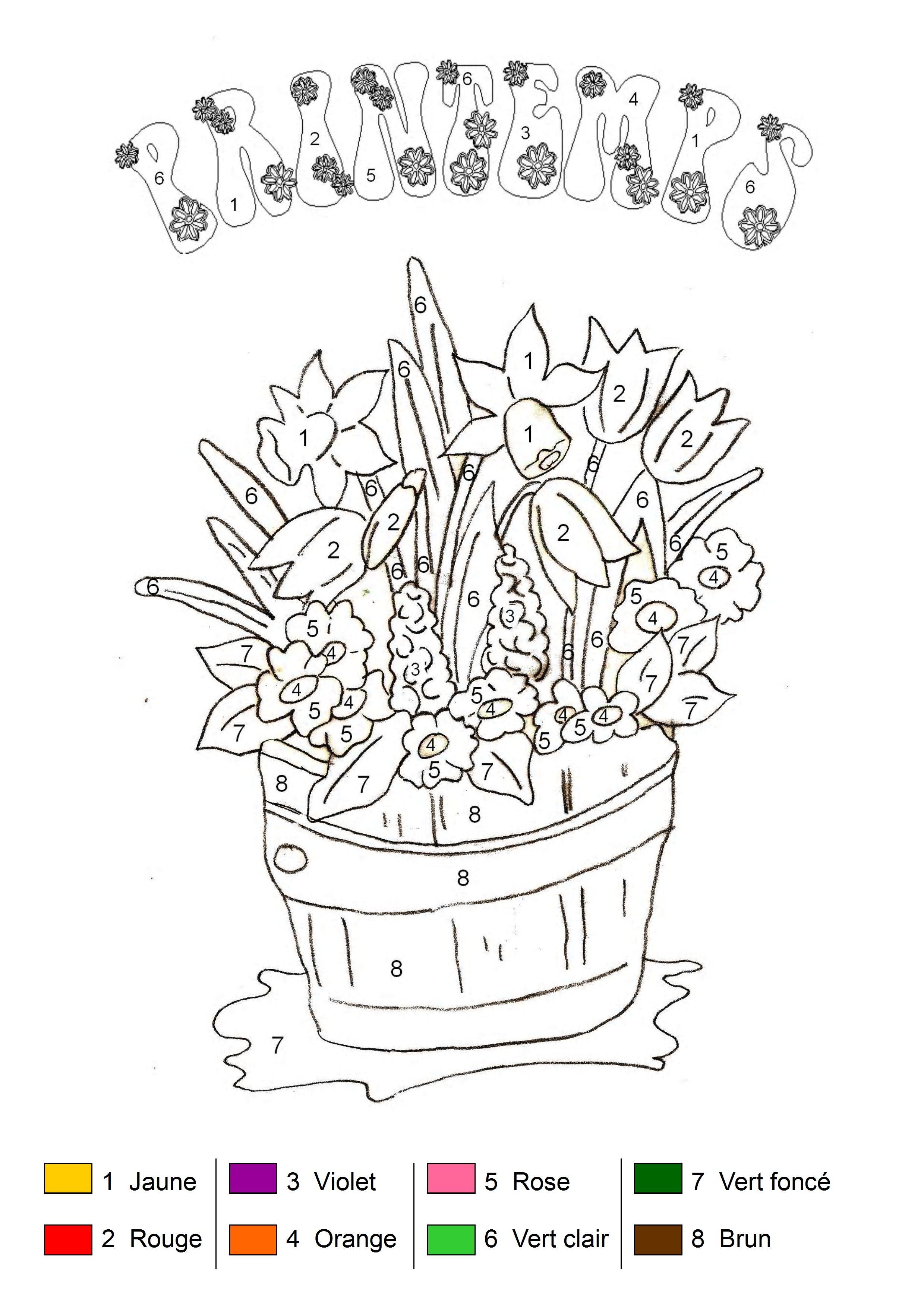 Coloriage printemps maternelle coloriage coloriage printemps coloriage printemps maternelle - Chat a colorier maternelle ...