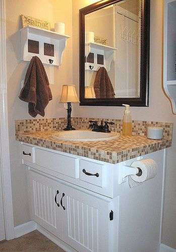 Tiled Bathroom Vanity Remodel Pinterest Bathroom Bathroom