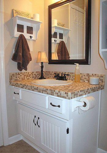 Tiled Bathroom Vanity Blogged At Alisa Thesweetlife Blogsp