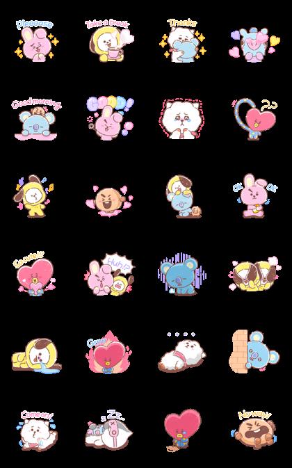 New Funny Emoji  UNIVERSTAR BT21: Sweet Talkers – LINE Stickers | LINE STORE 9