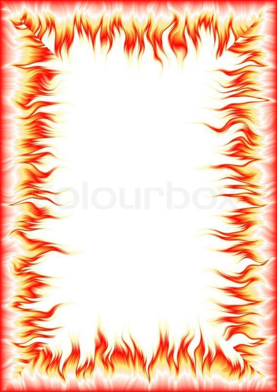 Hoj Oplosning Ramme Med Elementer Af En Flamme A4 300 Dpi Stock Billede Colourbox Billede Ramme Billeder