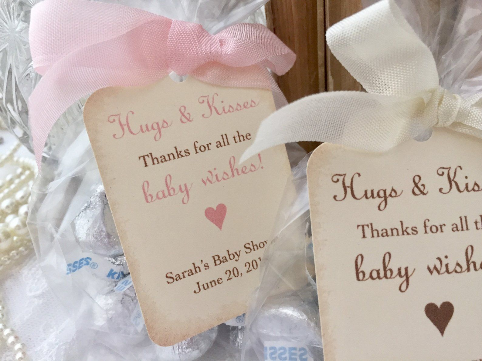 Baby Hugs and Kisses Favor Bags, Baby Shower Kiss