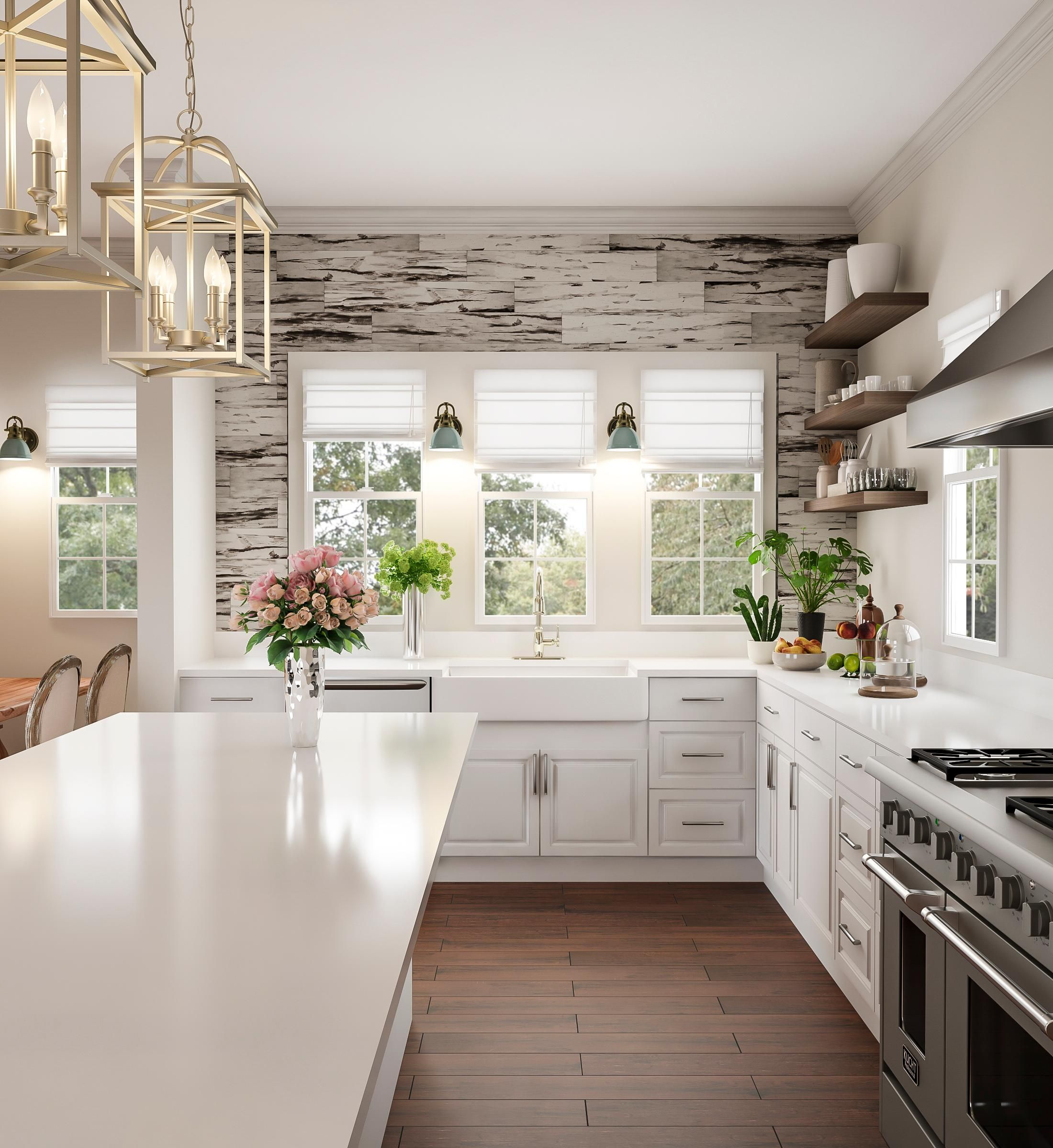 Glam up your kitchen galley with an incredible feature