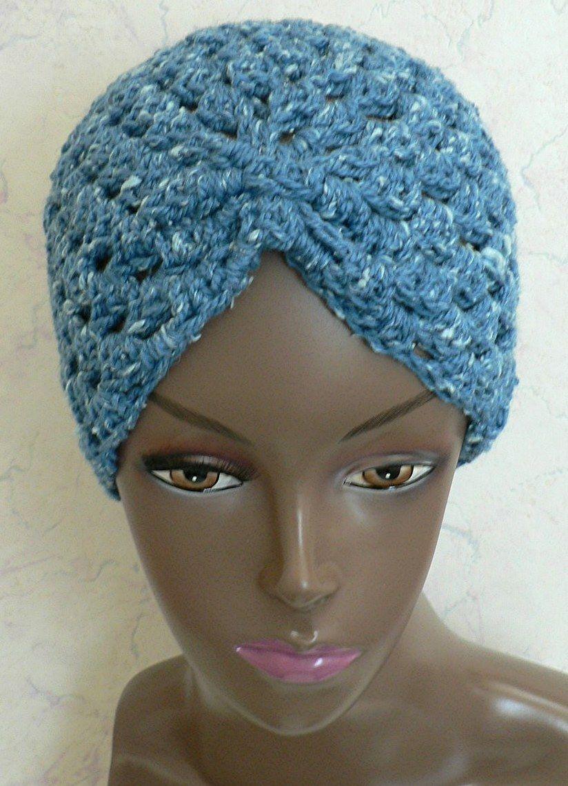 Crochet turban free hat pattern   Looks better in person ...