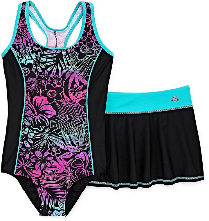 be9d75ad7d4af ZeroXposur One Piece Swimsuit Big Kid Girls Plus | Clothes and ...