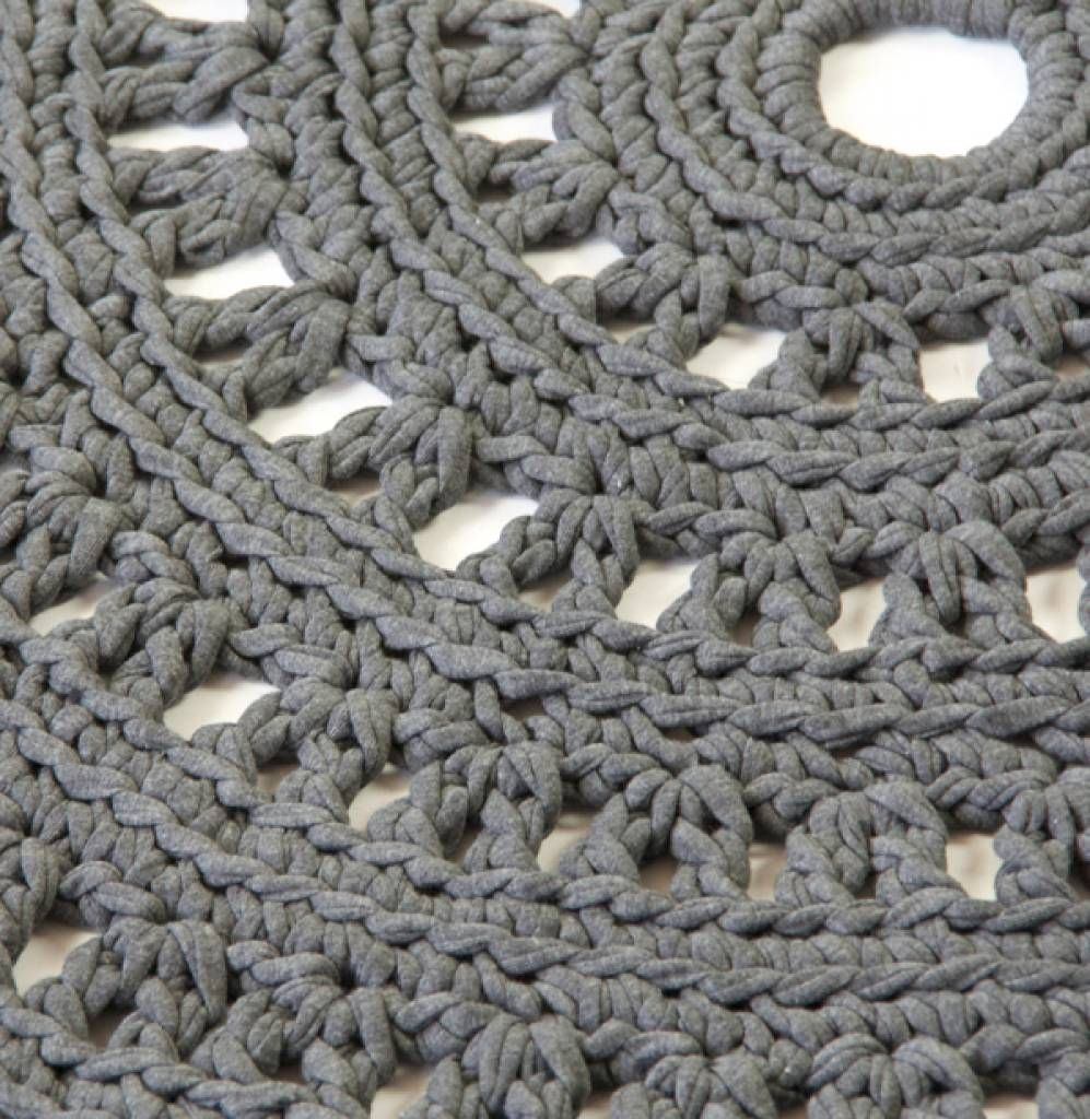 Lekker Stoer Gehaakt Vloerkleed Crochet Knitting Cloth Drawing