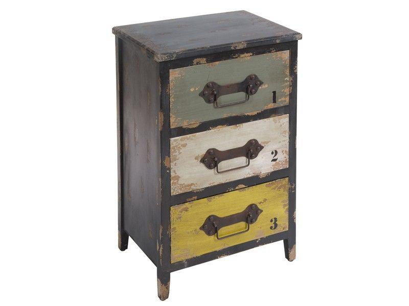 Mueble industrial 3 cajones | Mesas auxiliares | Pinterest ...