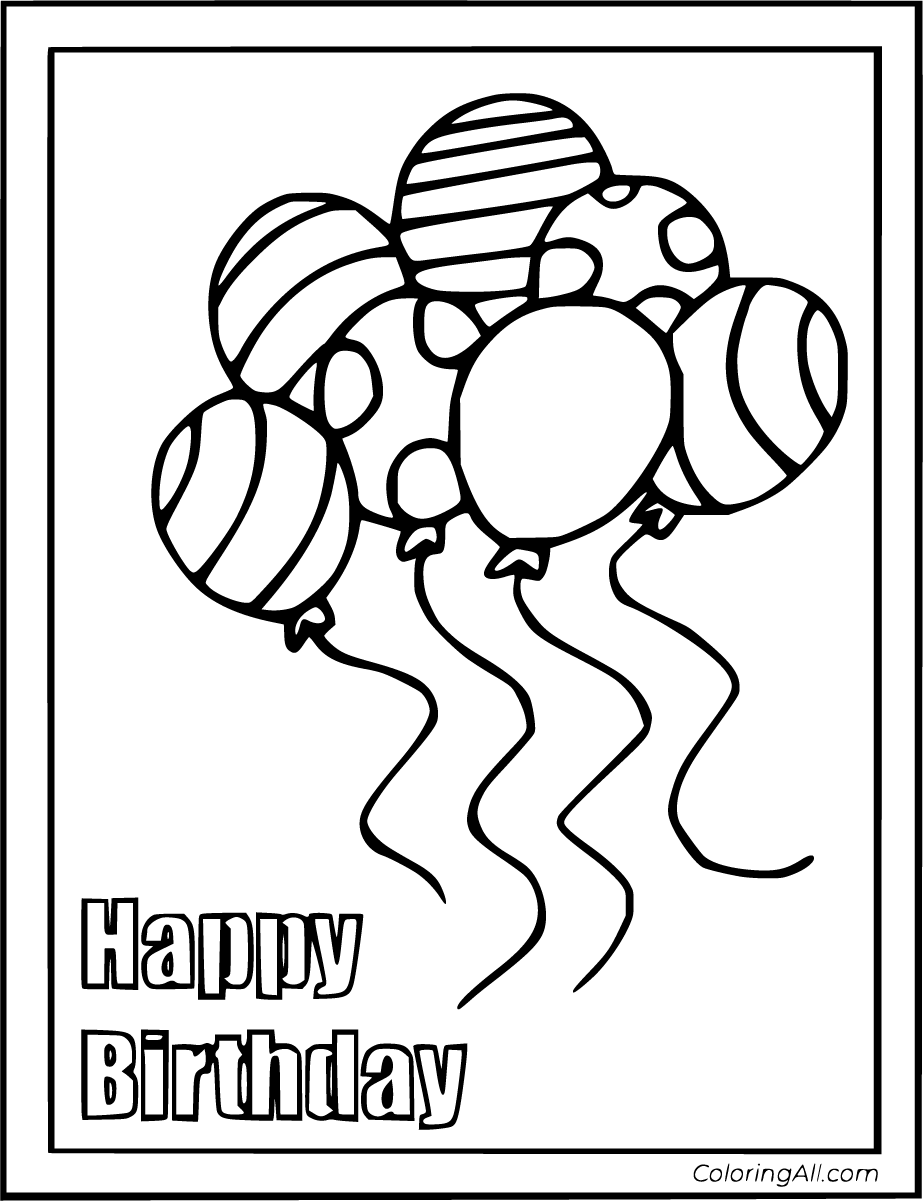 12 Free Printable Birthday Card Coloring Pages In Vector Format Easy To Print Fr Happy Birthday Coloring Pages Birthday Coloring Pages Birthday Card Printable